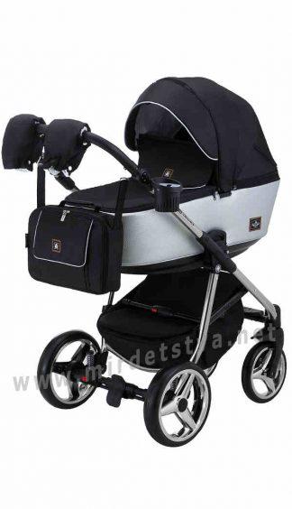 Детская модульная коляска Adamex Barcelona Polar (Chrome) BR615