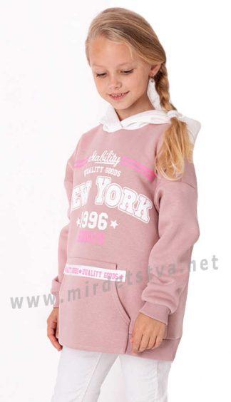 Худи для девочек Mevis 3574-05 утепленное