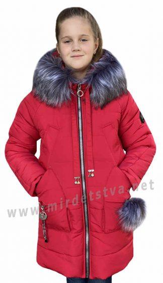 Красная зимняя куртка для девочки Nestta Agata