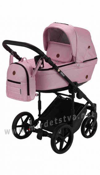 Розовая прогулочная коляска Adamex Amelia SM5 кожа