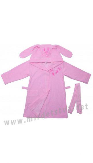 Розовый халат для девочки Valeri tex 1335-20-181