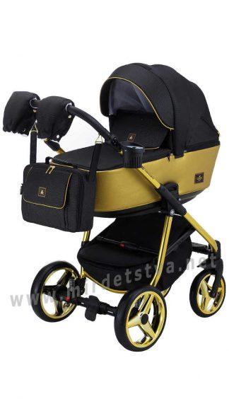 Современная детская коляска Adamex Barcelona Polar (Gold) BR619