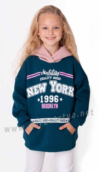 Толстовка на флисе для девочки Mevis 3574-04