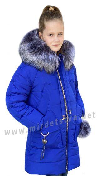 Зимняя куртка для девочки Nestta Agata синяя