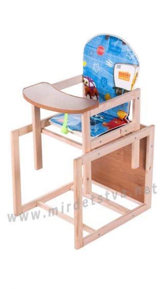 Деревянный стульчик для кормления Наталка Зайчик-11 eko
