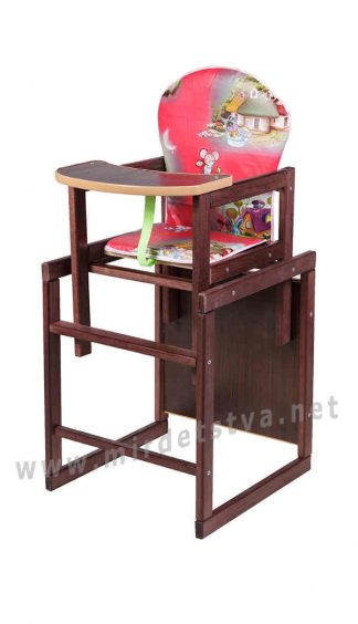 Деревянный стульчик для кормления Наталка Зайчик-22