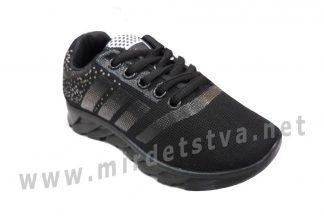 Детские черные текстильные кроссовки Vends 08-17-07С