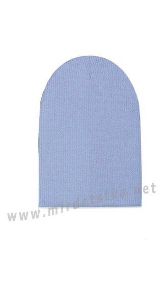 Голубая шапка двойная детская