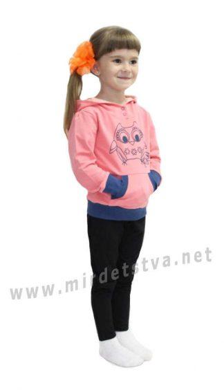 Худи для маленькой девочки Valeri tex 1928-55-355-018