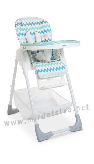 Компактный стульчик для кормления Bambi M 4507 Light blue
