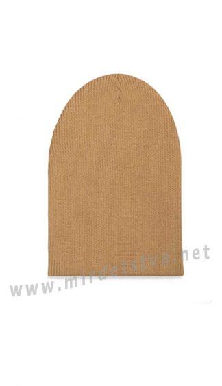 Коричневая шапка универсального размера