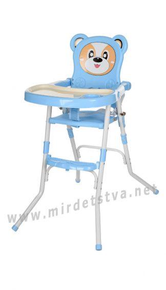 Стульчик для кормления 2в1 голубой Bambi 113-4