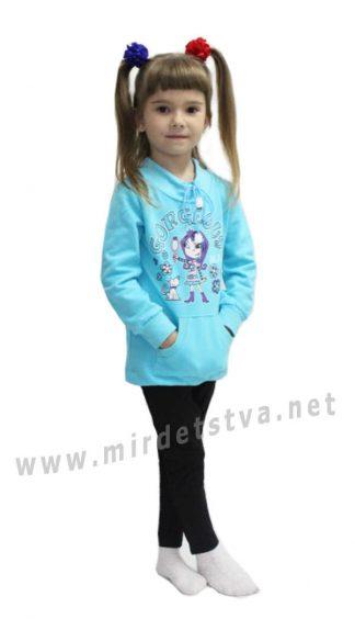 Трикотажный детский костюмчик с туникой Valeri tex 1731-55-055-020
