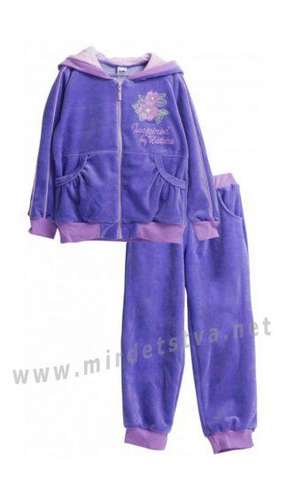Велюровый костюм для девочки Valeri tex 1894-20-365-015