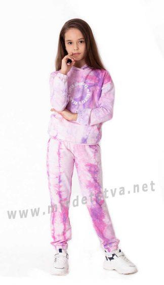 Розовый спортивный костюм на девочку Mevis 3744-01