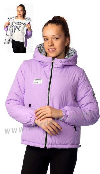 Светоотражающая двусторонняя весенняя куртка на девочку Nestta Adel