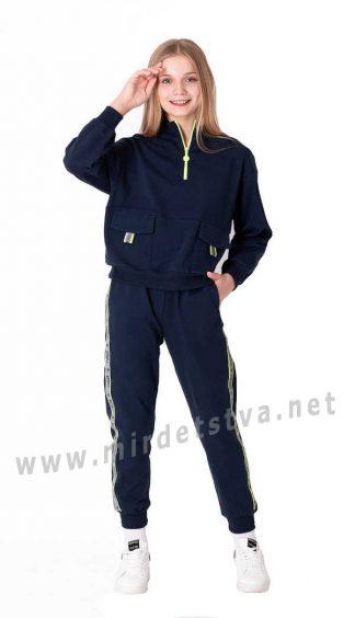 Трикотажный брючный костюм на девочку подростка Mevis 3727-03
