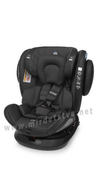 Автокресло нового поколения EL CAMINO ME 1045 Premium black Evolution 360