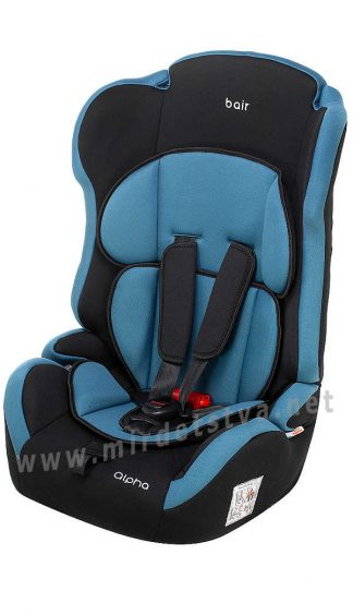 Автомобильное кресло детское Bair Alpha DA2924 черный — темно-бирюзовый