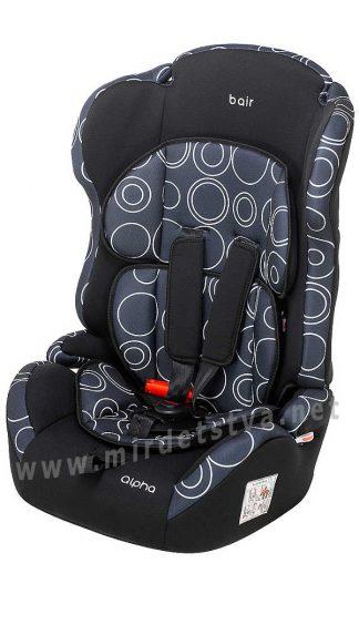 Автомобильное кресло ребенку Bair Alpha DA1424 черный — темно-синий (круги)