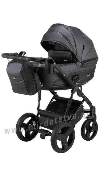 Детская черная коляска 2в1 Bair Play Plus BPL-112