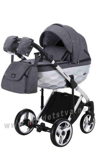 Детская коляска 2в1 Adamex Chantal Star Polar (Chrome) Star 2