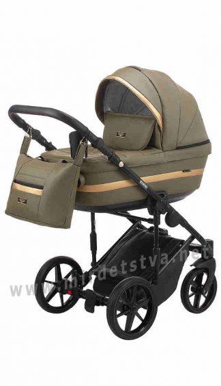 Детская коляска 2в1 Adamex Rimini ECO RI-256 кожа