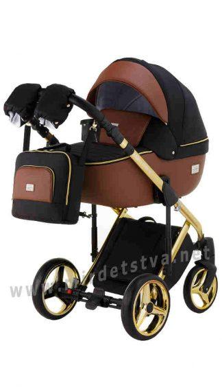 Детская коляска Adamex 2в1 Luciano Polar (Gold) Y800