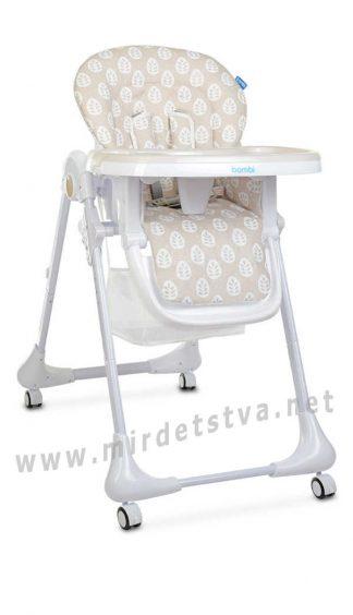 Функциональный стульчик для кормления Bambi M 3233 Leaf Beige