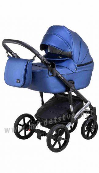 Коляска детская 2в1 Bair Polo Silver 38S кожа 100%