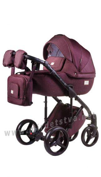 Комфортная детская коляска 2в1 Adamex Luciano jeans Q8
