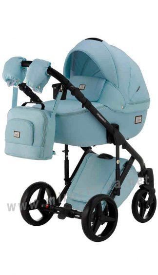 Модульная коляска 2в1 Adamex Luciano CR233 голубая