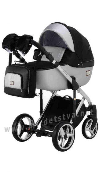 Прогулочная коляска 2в1 Adamex Luciano Polar (Chrome) Y843