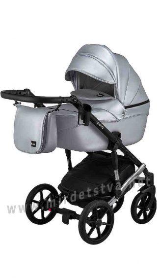 Прогулочная коляска 2в1 Bair Polo Silver 31S кожа 100%
