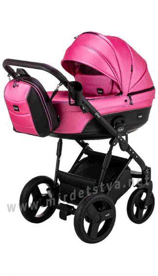 Розовая коляска детская 2в1 Bair Play Plus BPL-104