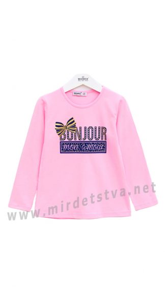 Розовый реглан для девочки Wanex 31414