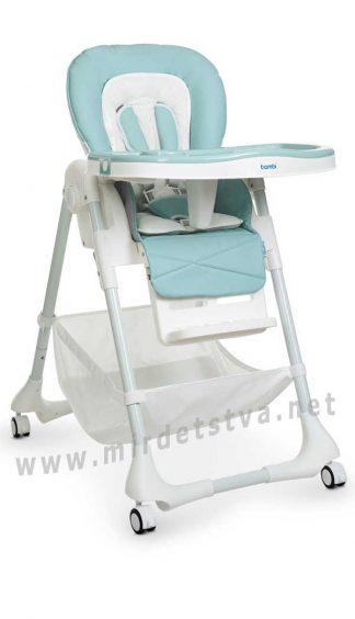Современный стульчик для кормления Bambi M 3822 Tiffany blue