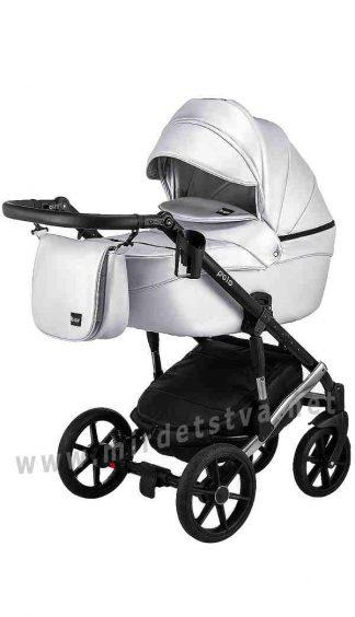 Универсальная коляска 2в1 Bair Polo Silver 27S кожа 100%
