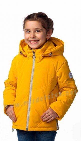 Весенняя куртка для девочки Nestta Lera желтая