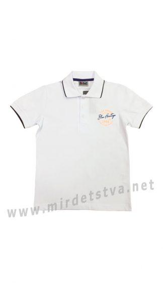 Белая футболка-поло для мальчика Cegisa 0669 (0670) (0671)