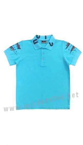 Голубая футболка-поло для мальчика Cegisa 0714 (0715)