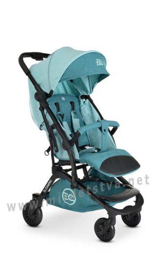 Коляска для новорожденного EL CAMINO ME 1040L Zigzag Aquamarine