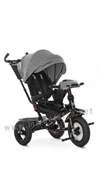 Колясочный велосипед с резиновыми колесами Turbo Trike M 4060HA-19L