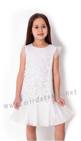 Кружевное белое платье для девочки Mevis 3876-01
