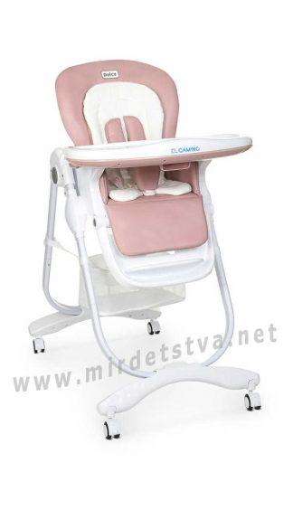 Розовый стул для кормления EL CAMINO Dolce M 3236 Rosette