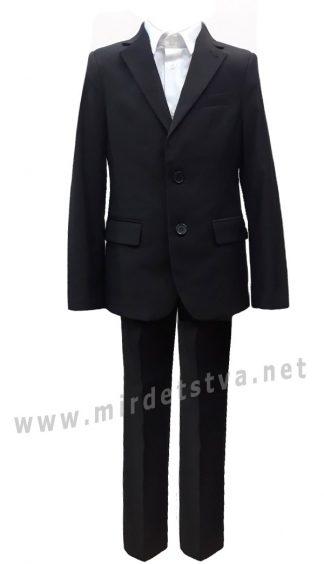 Школьный черный костюм двойка на мальчика 7186/1