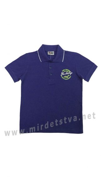Синяя футболка-поло для мальчика Cegisa 0669 (0670) (0671)