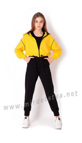 Яркий детский костюм с укороченной кофтой Mevis 3646-05