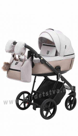 Белая коляска детская 2в1 Adamex Belissa Tip