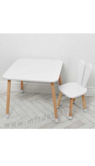 Белый детский столик со стулом Bambi 04-025W